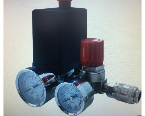Реле (редуктор) давления на компрессор в сборе с манометрами 080-2020