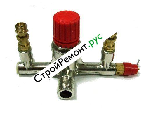 Редуктор для компрессора с аварийным клапаном и фитингами 080-2050