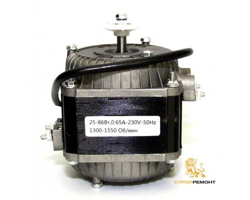Двигатель для эл.обогревателей, газовых пушек, вытяжек(D) 25-86Вт, 0,65А-230v-50Hz, 1300-1550 Об/мин